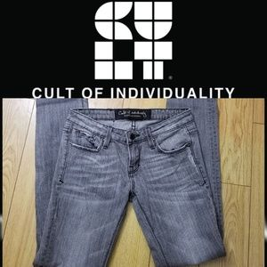 CULT OF INDIVIDUALITY Gray Skinny Jeans